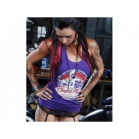 Chops's Place Ladies Racer Back Singlet - Purple