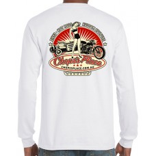 Chops's Place Long Sleeve T-Shirt - White