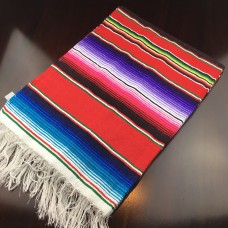 Large Multi Colour Mexican Blanket - Red (BlueTail)