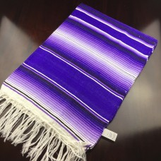 Large Two Tone Mexican Blanket - Purple/Lavendar