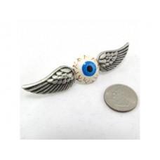 Flying Eyeball Pin - Hand painted!