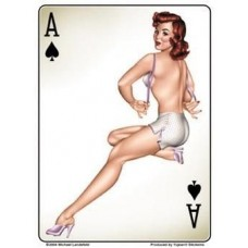 Ace Of Spades Pinup Sticker - Large