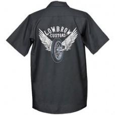 Lowbrow Customs Winged Wheel Workshirt